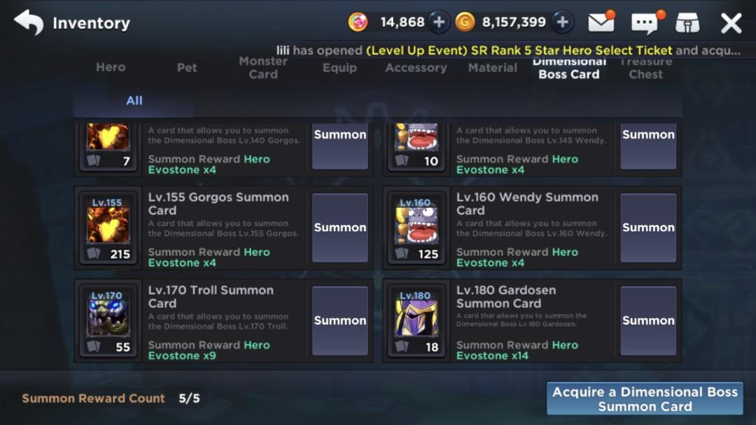 GrandChase dimensional Chaser account, Toys & Games, Video