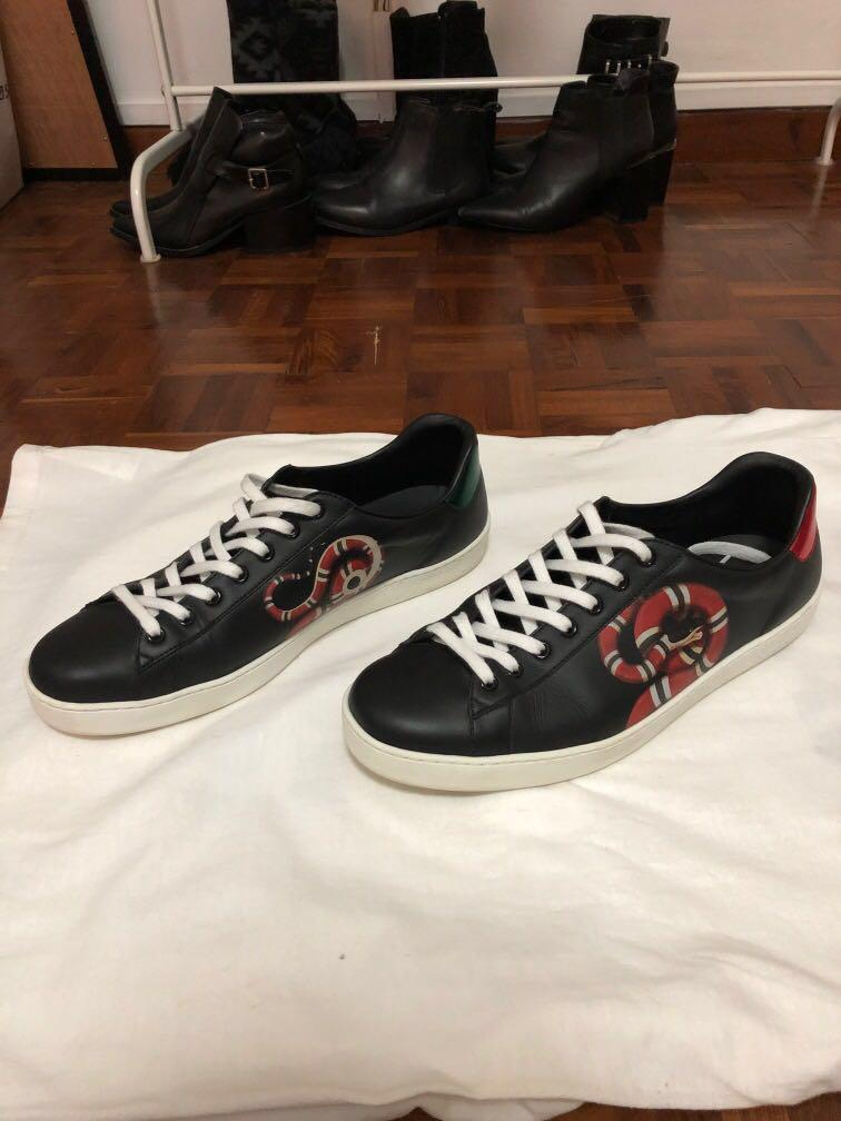 Gucci Ace Kingsnake, Luxury, Shoes on
