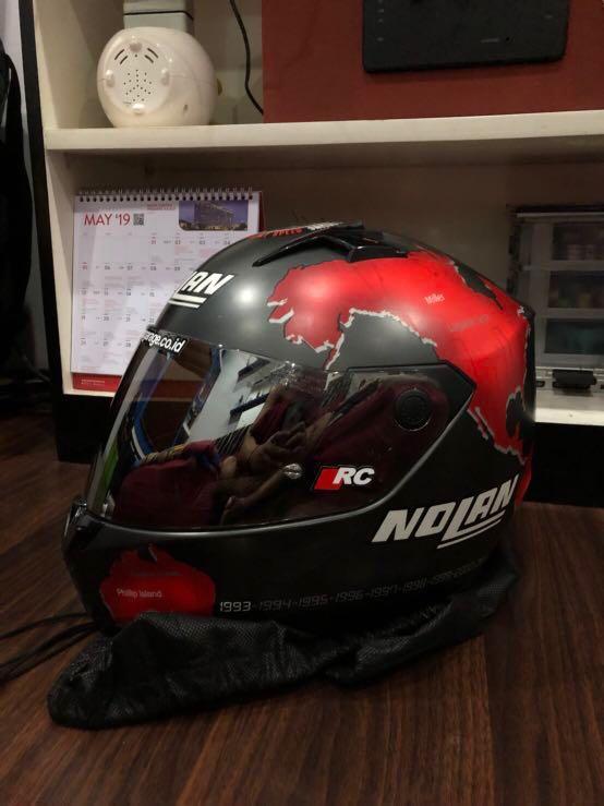 Helmet nolan N64 checa red