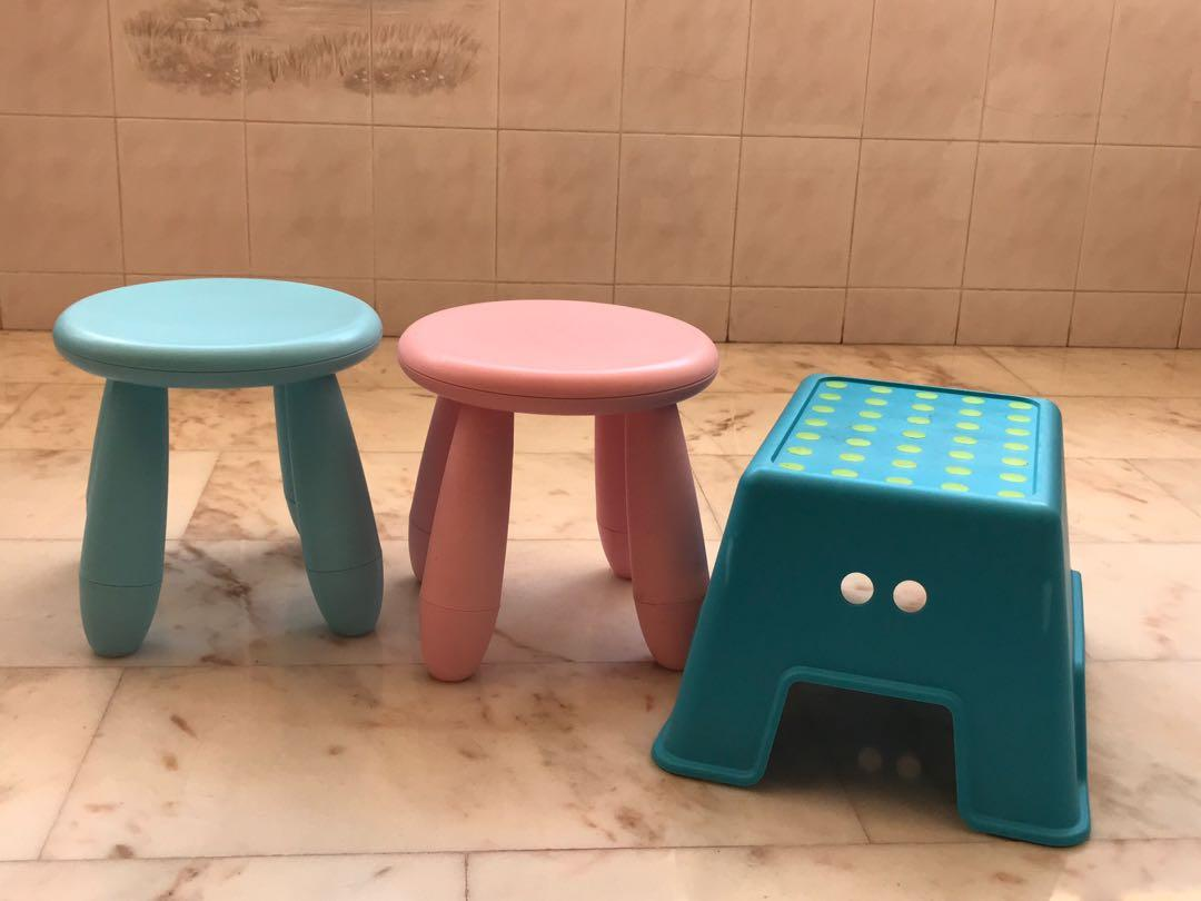 Excellent Ikea Kids Mammut Stool Ikea Bolmen Step Stool Furniture Squirreltailoven Fun Painted Chair Ideas Images Squirreltailovenorg