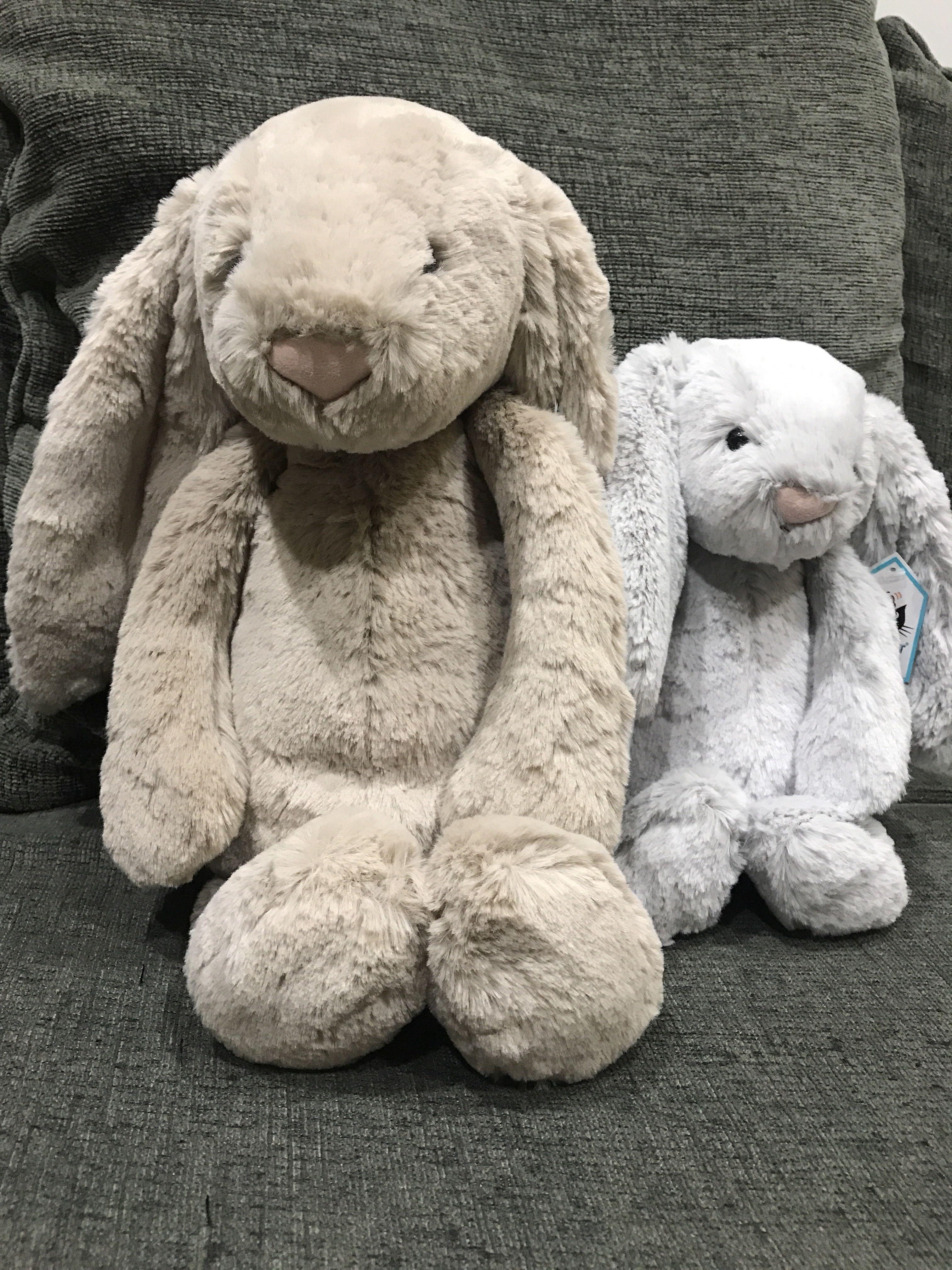 Jellycat large and medium bunny