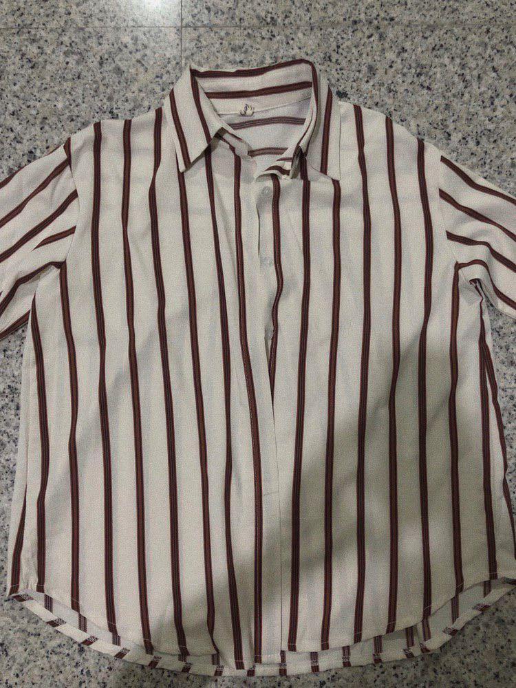 Long sleeve stripes Top