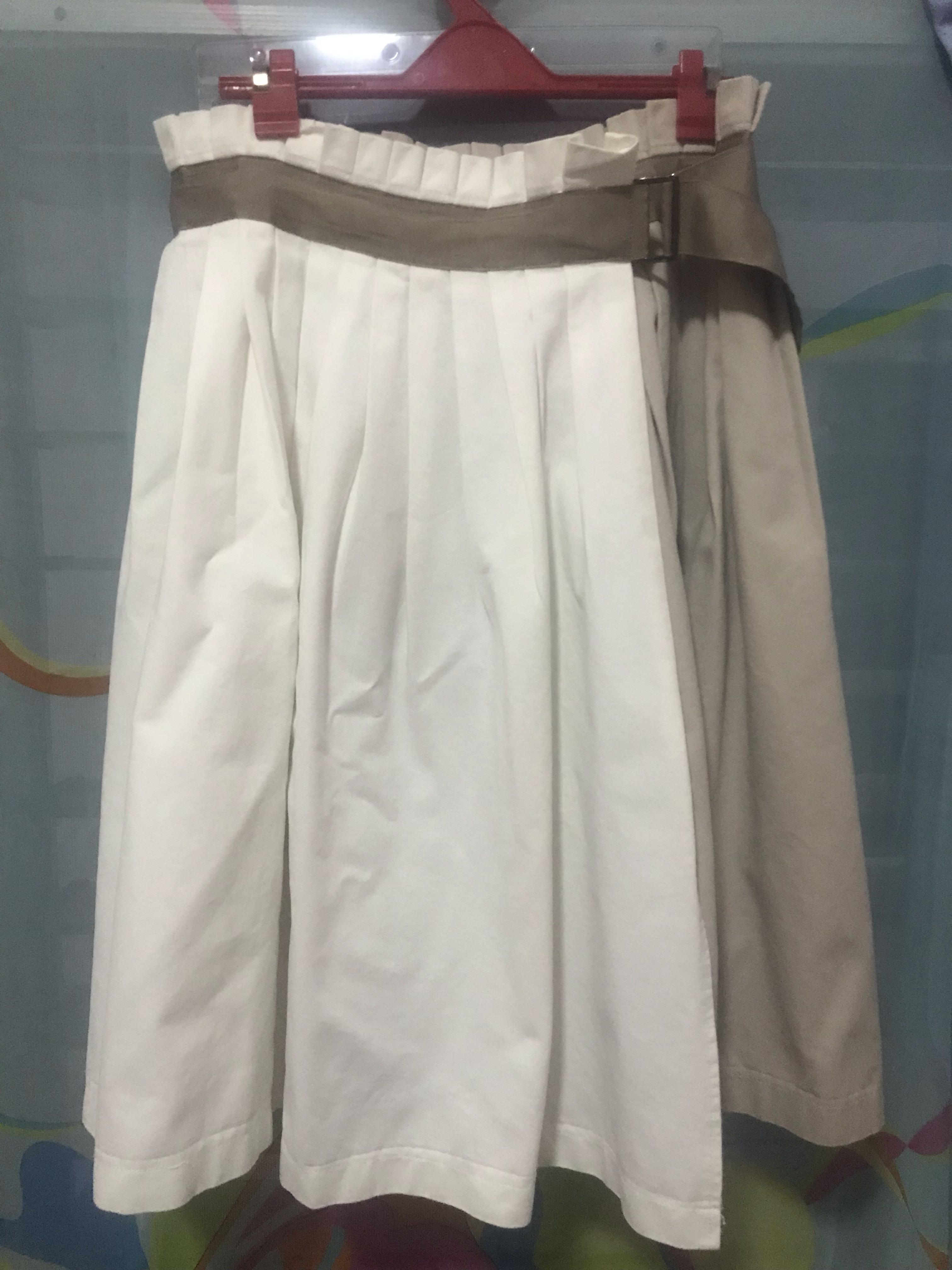 e352448fb9 MALDITA Wrap-Around Pleated Skirt (Preloved) on Carousell
