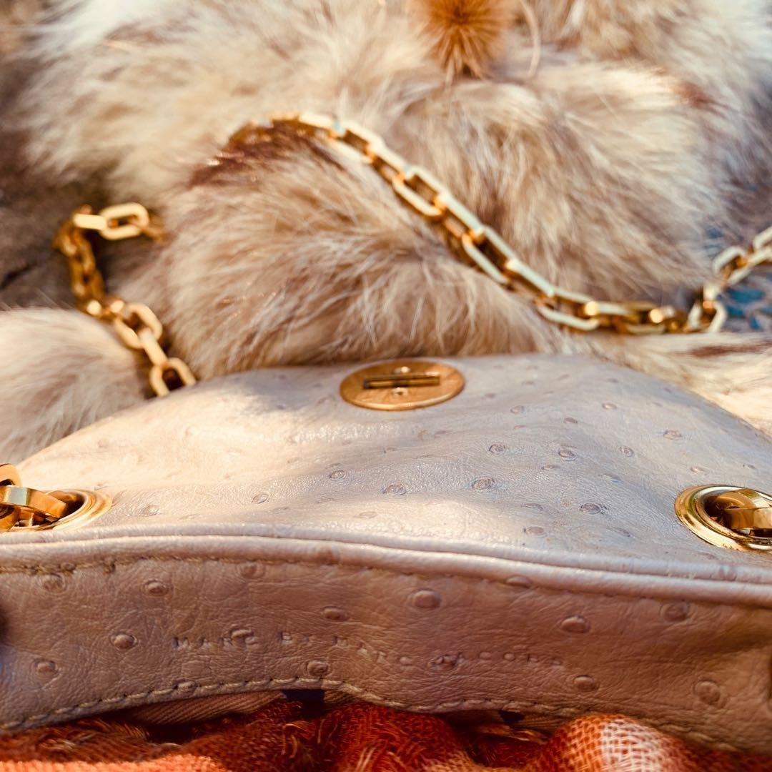 Marc by Marc Jacobs nude crossbody/shoulderbag with gold chain strap