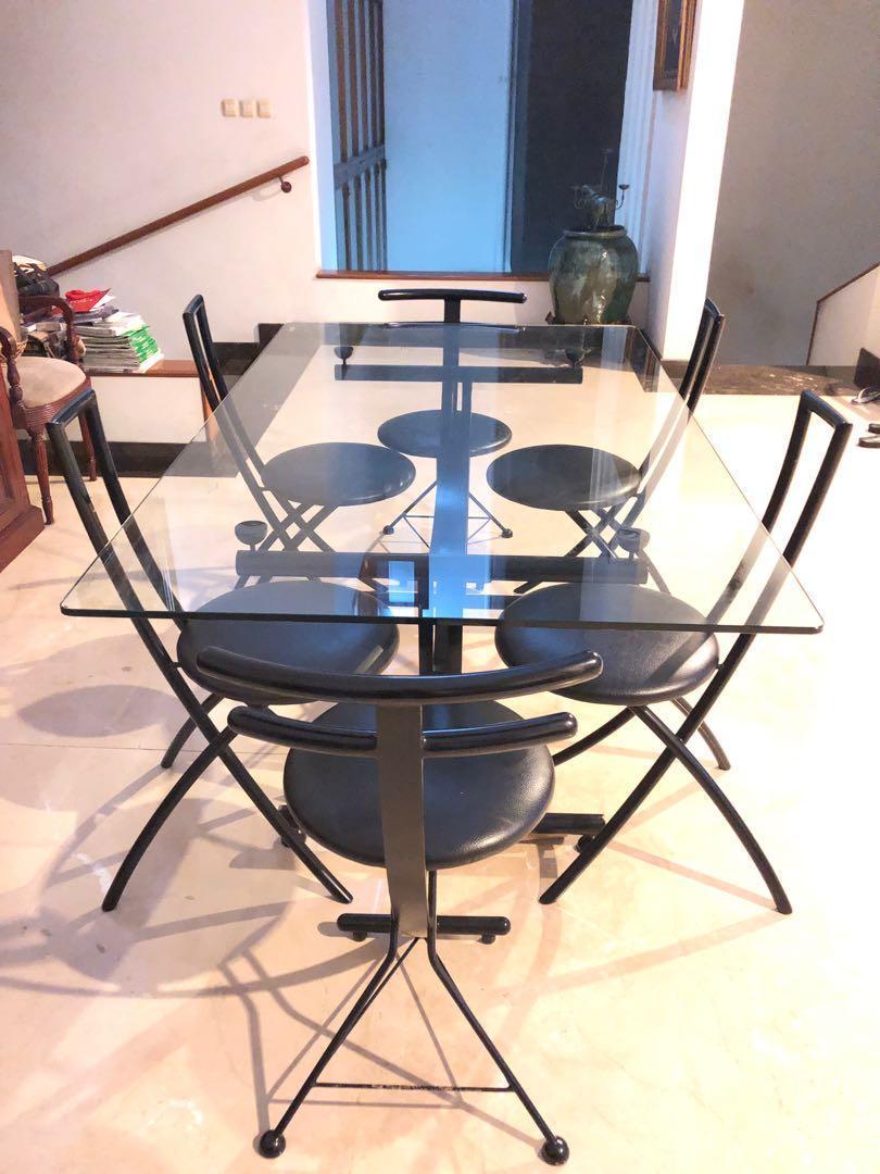 Meja Makan Kaca ( 6 sitter )