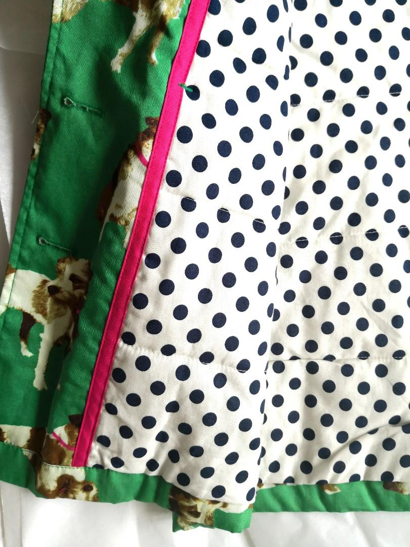 Mini Boden UK Girls' Padded Jacket Size 9 - 10 狗狗 print