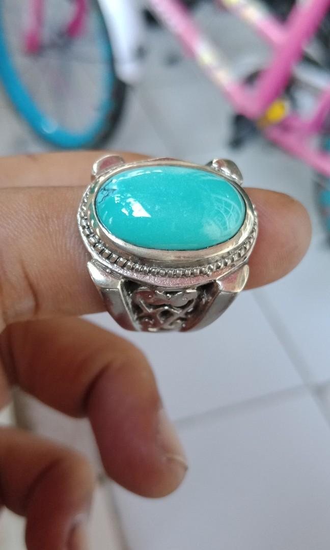 Nafural Pirus Persie Biru Toska Top