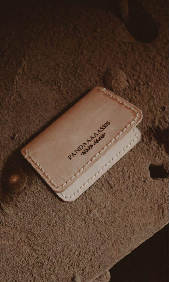 Natural Vegtan Leather Card Holder
