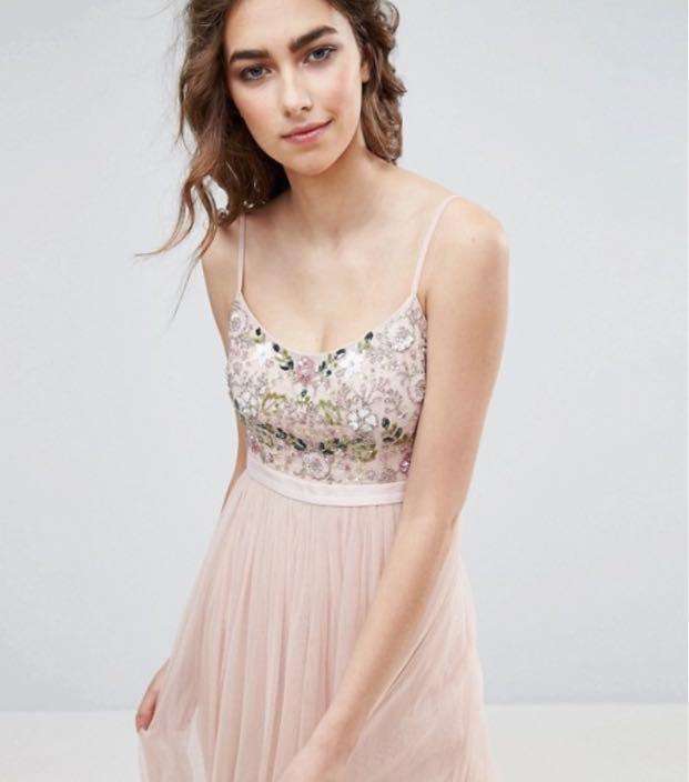 Needle & Thread Bridal Wedding tulle maxi Dress Rental (N & T) Gown UK6 輕婚紗 姊妹裙 伴娘裙 pre wedding 外拍婚紗裙租借