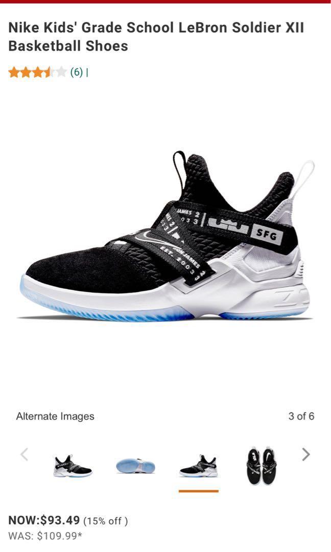 promo code 8b13d 4b739 Nike Kids' Preschool (US1Y) LeBron Soldier XII Basketball Shoes