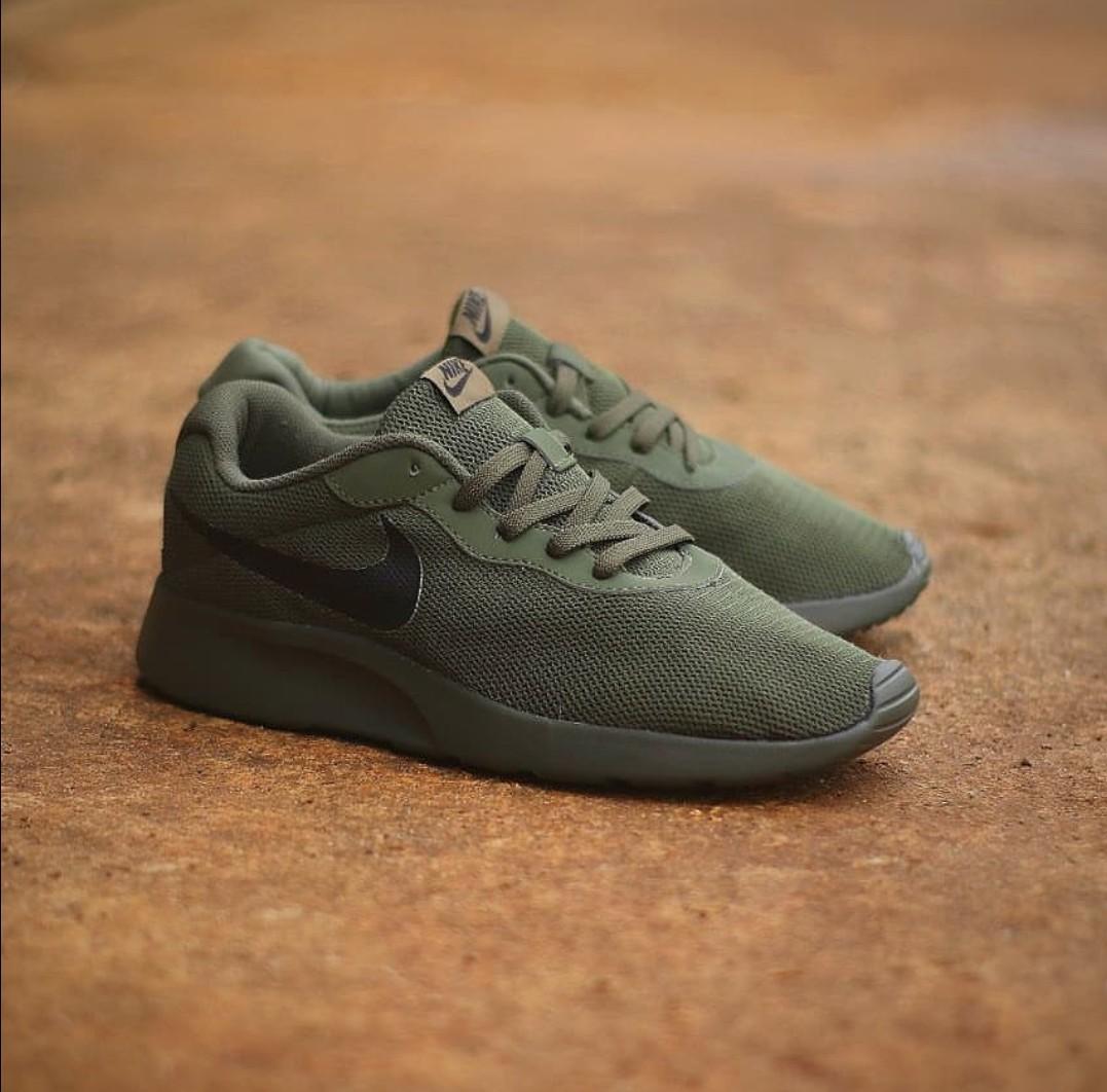 NIKE TANJUN OLIVE GREEN, Men's Fashion, Men's Footwear