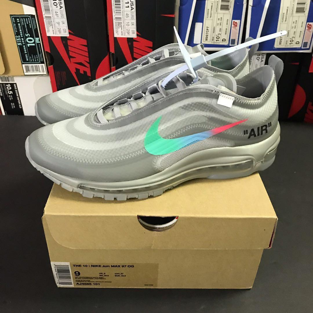 NIKE AIR MAX 97 x Off White 'Menta' UK 7.5 US 8.5