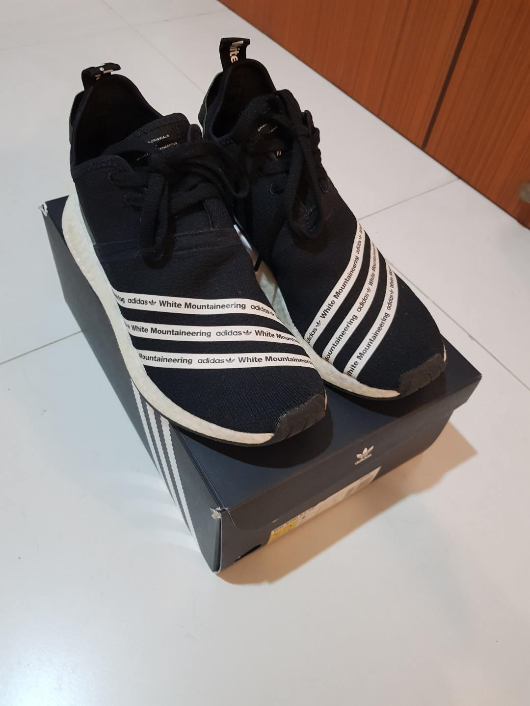 newest e4d60 a95a5 Nmd White Mountaineering R2 Black