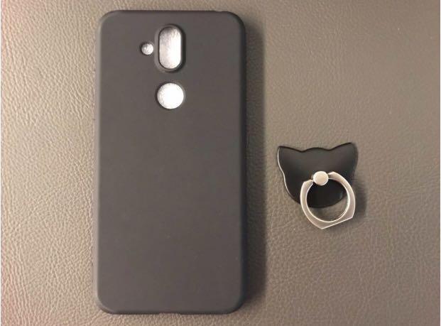 全新Nokia 7 黑色電話殼連指環 #summer19