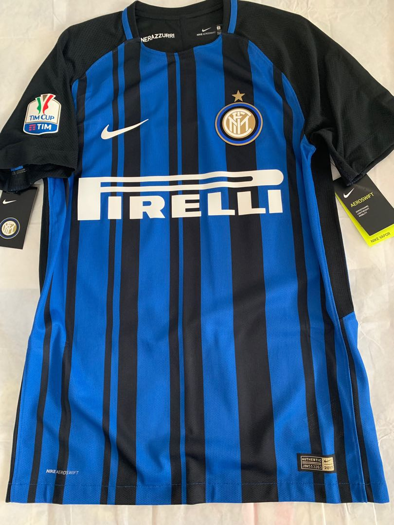 be5b95371 Official Authentic Nike INTER MILAN 2017-2018 Home Player Issue ...