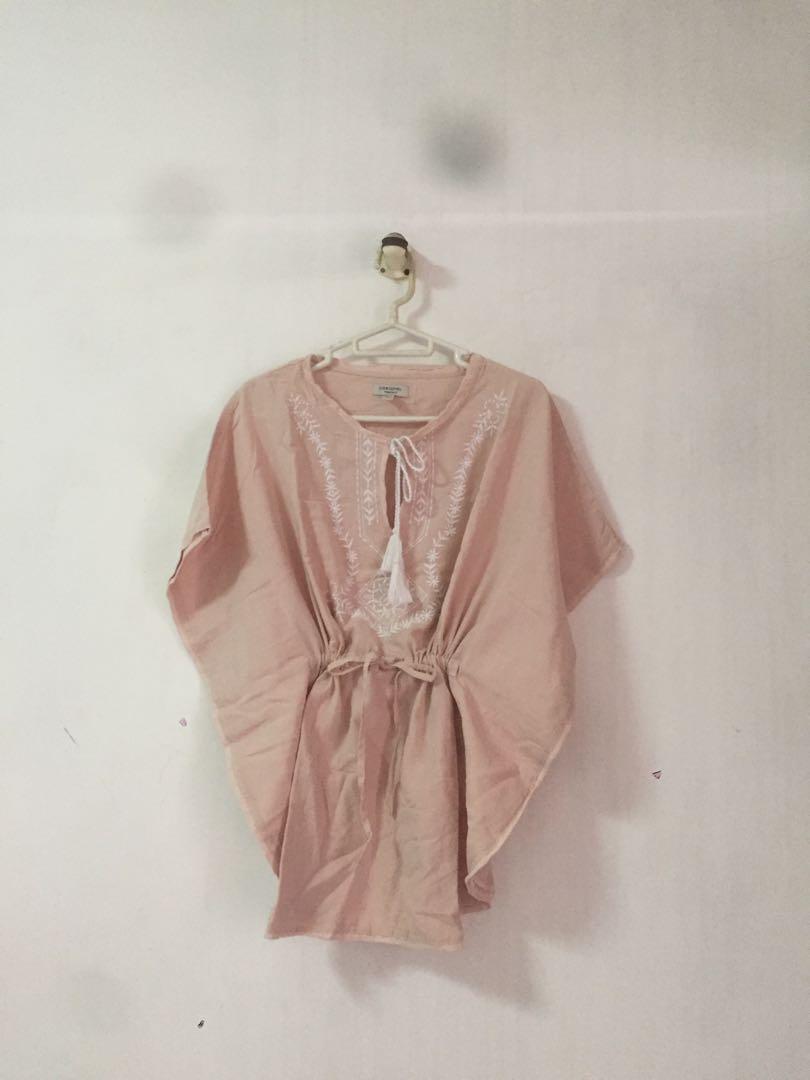 Peach Embroidery Tunic