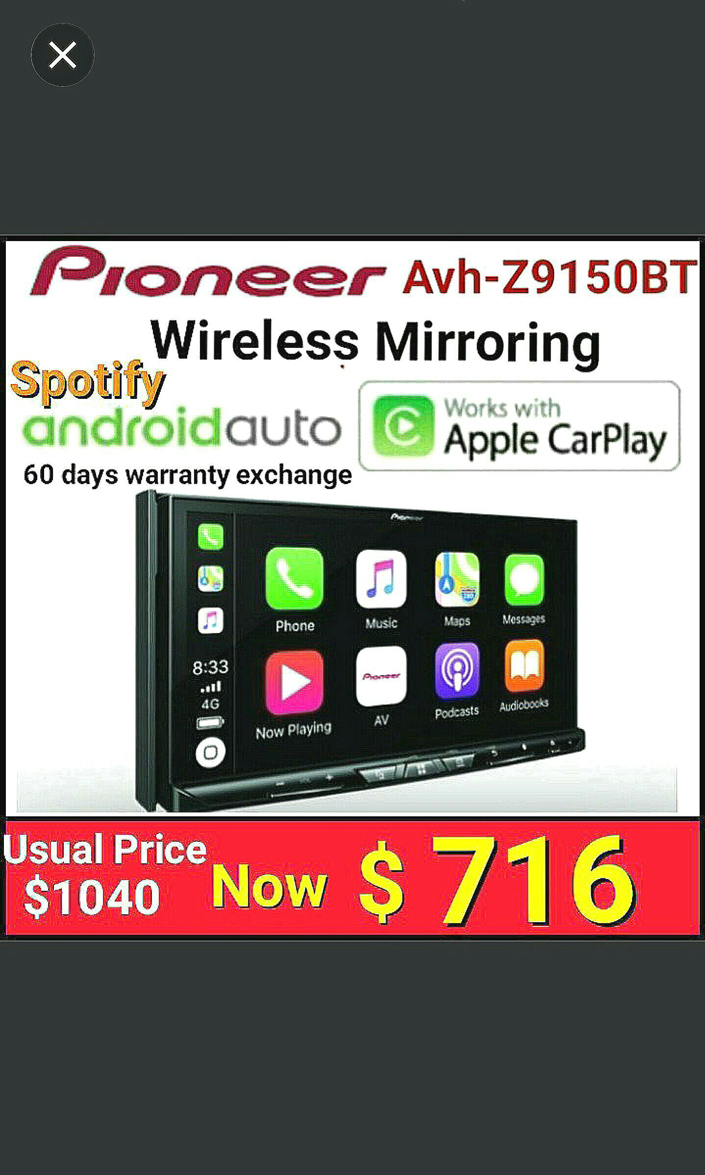 Pioneer Wifi Head Unit Car Accessories Accessories On Carousell