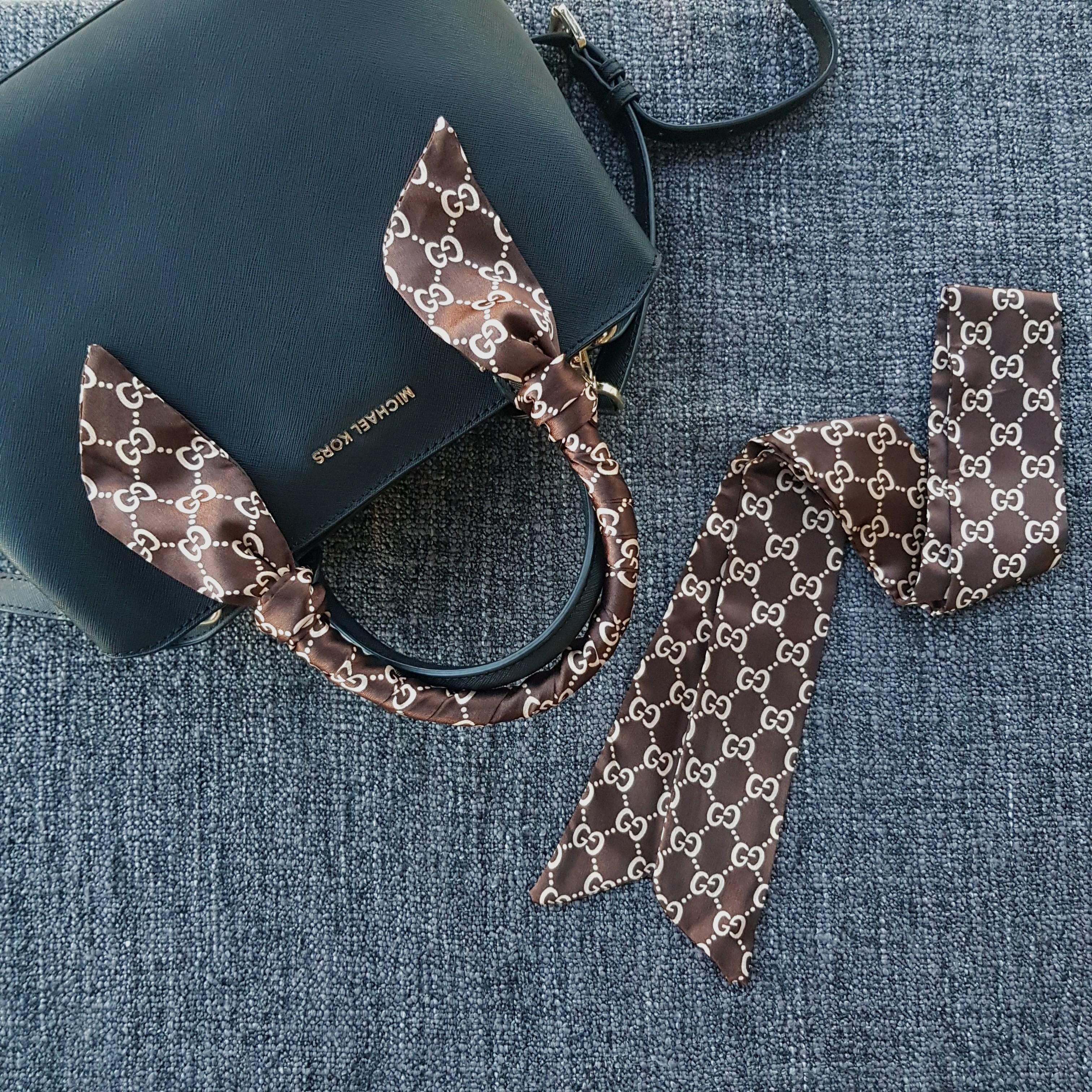 [Ready stock][Cheap Twilly] bag scarf handle protecter multi-purpose scarf