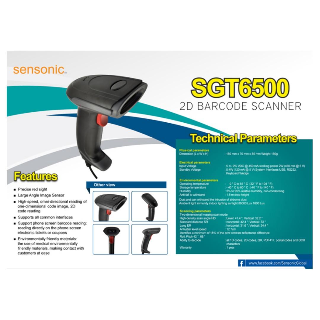 Sensonic 2D Barcode Scanner SGT6500