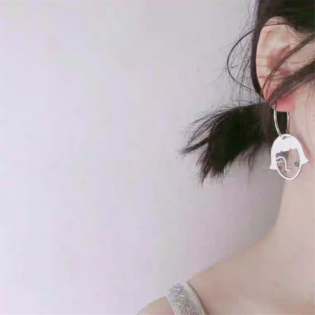 Smiling face earring, sterling silver earrings,gold filled earrings,face earring