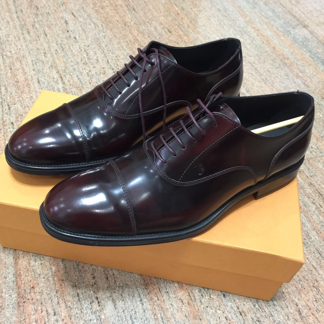 227260aa960 Tod's Burgundy Oxford Leather Shoes, Men's Fashion, Footwear, Formal ...