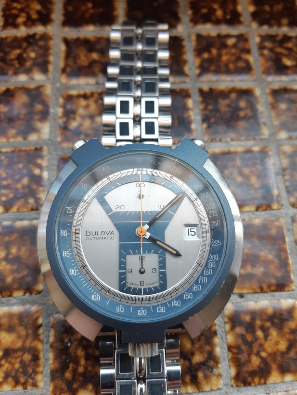 vintage bulova bullhead chronograph watch
