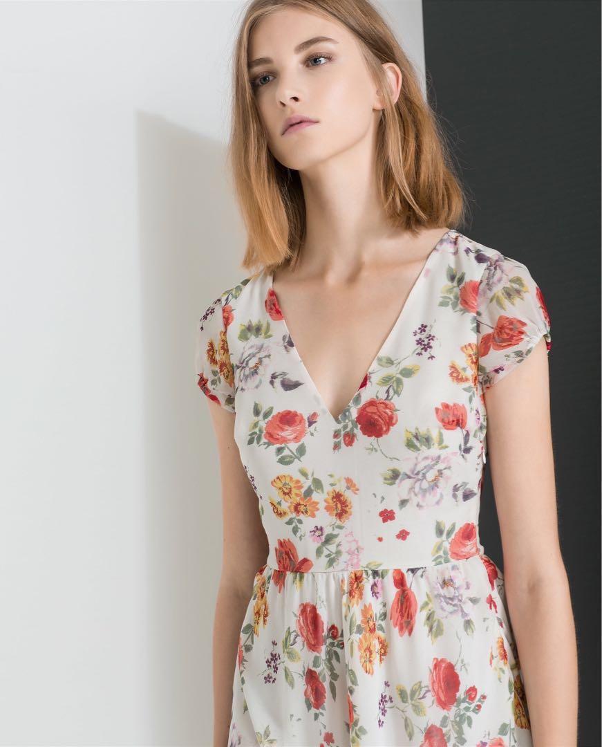 e2ff493b Flower Dress Zara - Flowers Healthy