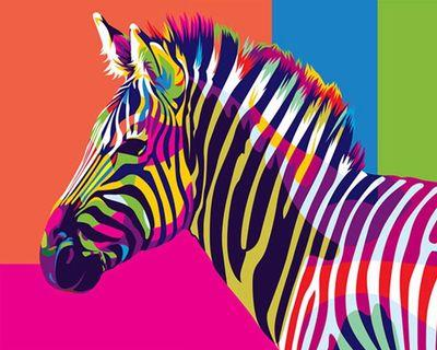 Zebra 2 - DIY PAINTING BY NUMBERING