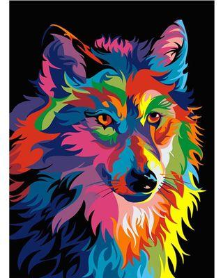 Wolf - DIY Painting By Numbering