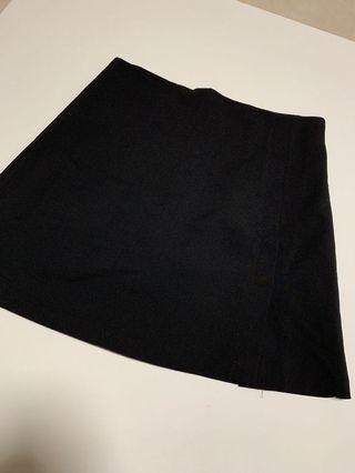 斯文 顯瘦 貼身 黑色短裙 半身 半截裙