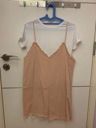 Soft Pink Overalls with complimentary White Top