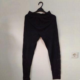 Legging hitam corak kembang #maujam