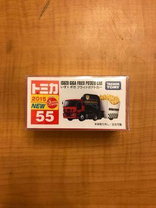 全新未開有貼 Tomy 55 Isuzu Giga Fried Potato Car 五十鈴超大型薯條運輸車 大貨車 工程車