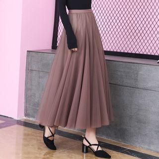 🚚 熱賣駝色雙層紗裙