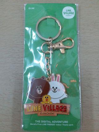 Line Village Bangkok Limited edition限量版 key chain 鎖匙扣