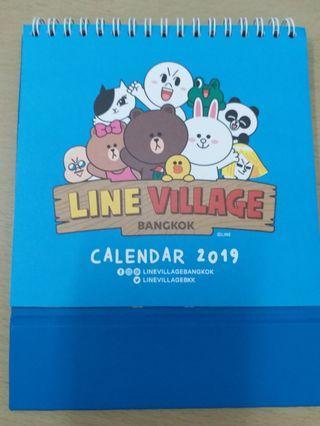 Line Village Bangkok Limited edition限量版 Calendar 2019 月曆