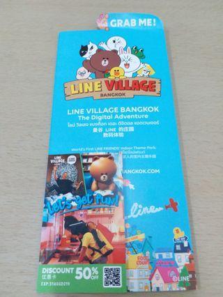 Line Village Bangkok 50 percent off discount coupon 31 aug 2019