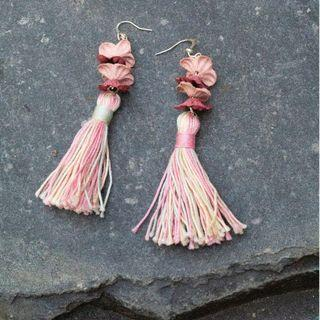 [Instock - Handmade] Floral Pastel Tassel Earrings