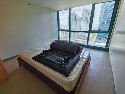 FOR RENT / LEASE:  ONE UPTOWN RESIDENCES 1 Bedroom Facing One Uptown Mall 22nd Floor Newly Turned Over Semi Furnished w/ Parking Slot