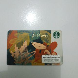 """Starbucks Card """"Fall 2015"""""""
