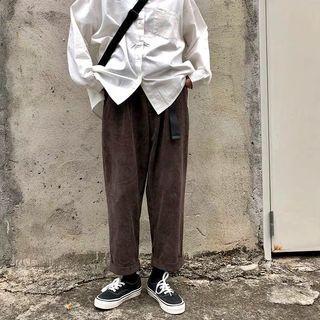 🚚 棕色燈芯絨寬褲
