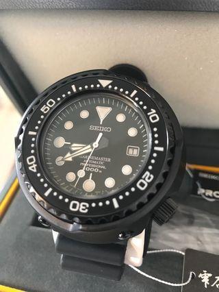 Seiko SBDX011 1000m Diver Black Tuna
