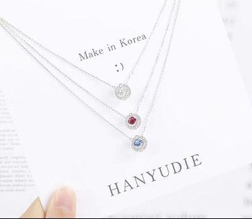 🚚 ❤️超美外銷韓國簡約水晶純銀鎖骨鏈
