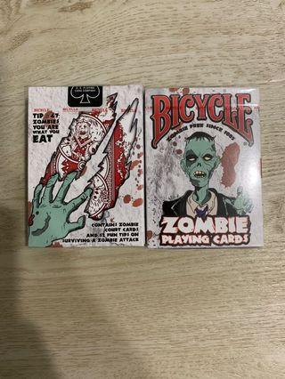 🚚 Bicycle zombie playing card