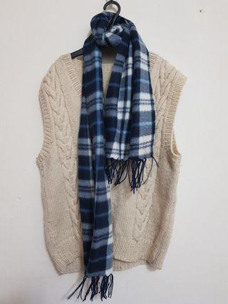 Winter knitted vest & scarf