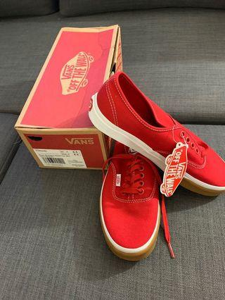 vans shoes AUTHENTIC GUM  BUMBER RED