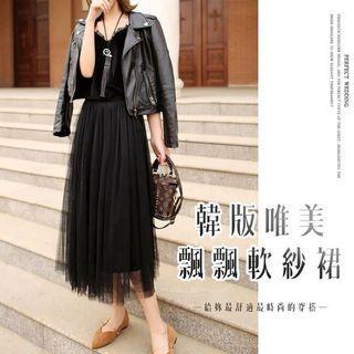 🌟全新🌟韓版唯美紗裙 / 黑色