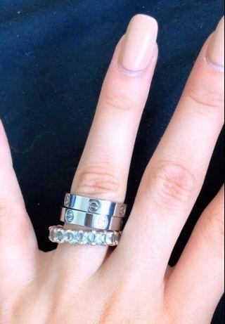Cartier Love Ring With 4 Diamonds