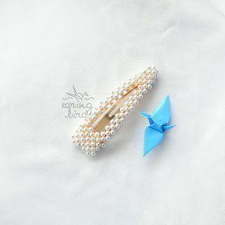 Hairpin square pearl