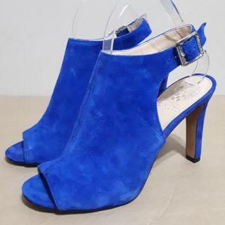Vince Camuto Olivia Open Toe Mules Blue Suede Size 8.5